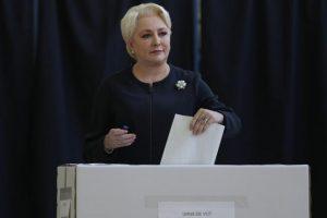 """Viorica Dăncilă a votat: """"Am fost 9 ani la Bruxelles, ştiu cum merg lucrurile acolo"""""""