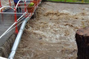 Inundaţii în Timiş, în zona localităţii Nădrag