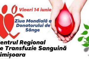 Ziua Mondială a Donatorului de Sânge. Salvează vieți!