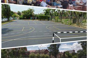 Baza sportivă a Liceului Baptist, renovată de primărie