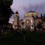 Biserica ortodoxă din Iosefin, iluminată artistic în timpul nopţii