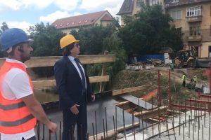 Podul Dragalina nu e gata când începe şcoala