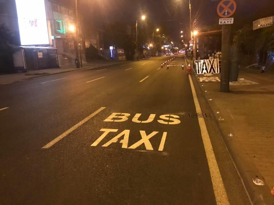 Pe strada Cluj, una din cele 4 benzi va fi dedicată pentru transportul în comun, taxi și ambulanță