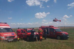 Bărbat căutat cu elicopterul după ce a leşinat în timp ce suna la 112