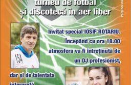 Concurs de role, turnel de fotbal și discotecă în aer liber la Șandra
