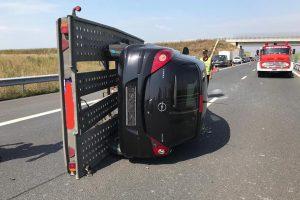 Accident pe autostrada A1 între Timișoara și Lugoj