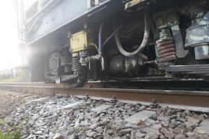 O locomotivă a luat foc în Timiş