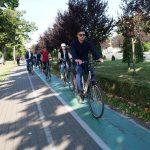 Angajaţi ai STPT şi ai Primăriei au pedalat vineri, în Săptămâna Europeană a Mobilităţii