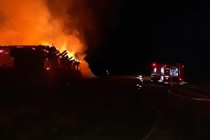 Animale arse şi sălaş distrus la Teregova