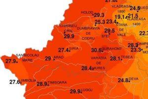 O localitate din Arad, polul căldurii în Europa
