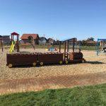 Foto. Parcul din Utvin prinde contur