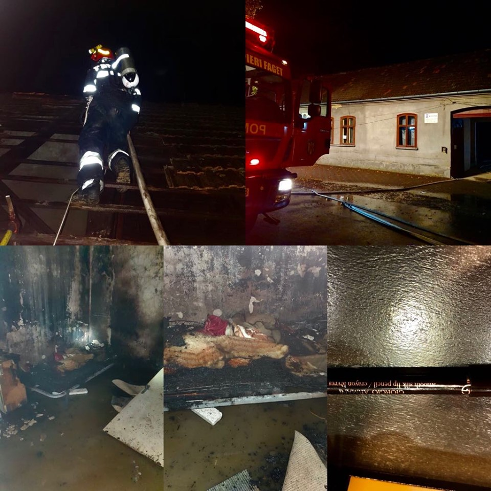 Doi timişeni, salvaţi de pompieri din locuinţa incendiată
