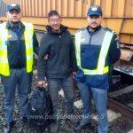 Marocan descoperit ascuns pe platforma unui vagon la Curtici