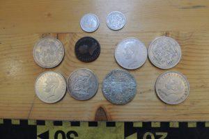 Monede și obiecte istorice din Patrimoniul Cultural Național,confiscate în P.T.F. Porţile de Fier I