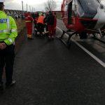 Accident grav pe drumul dintre Remetea Mare şi Bucovăț. A intervenit elicopterul SMURD