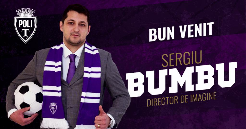 Sergiu Bumbu, noul director de imagine al Politehnicii Timișoara