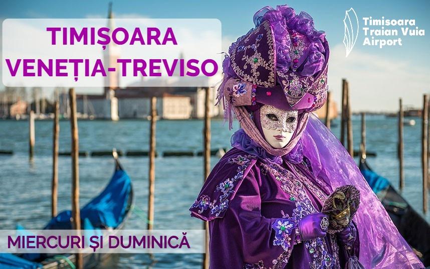 Zboară din Timișoara către carnavalul măştilor de la Veneţia!