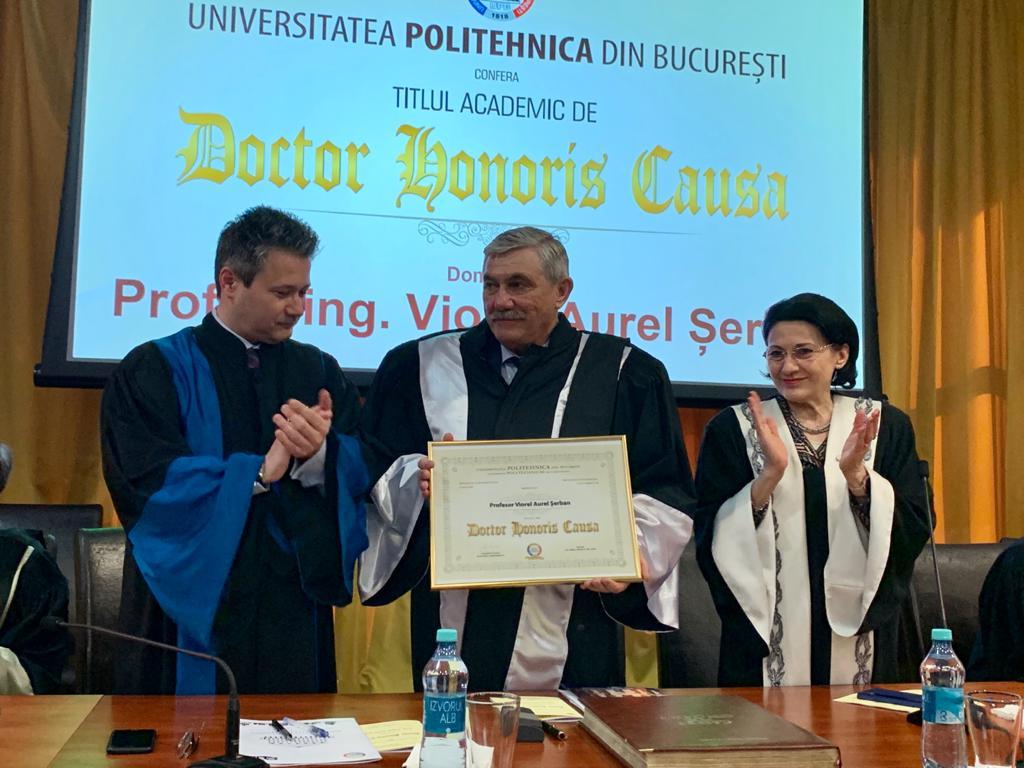 Cea mai înaltă distincție pentru rectorul UPT