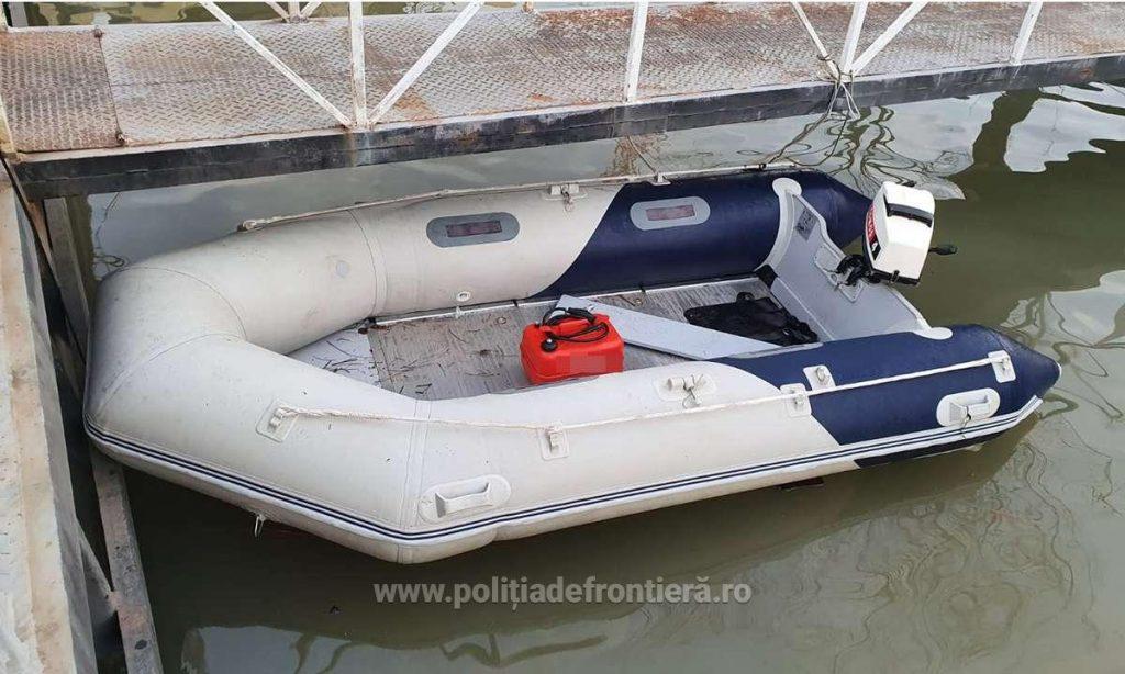 Şapte cetăţeni din Siria și Egipt, depistaţi traversând Dunărea cu o ambarcaţiune