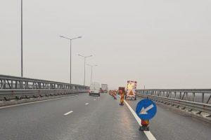 Atenţie, şoferi! Se lucrează pe autostrada Timişoara-Lugoj