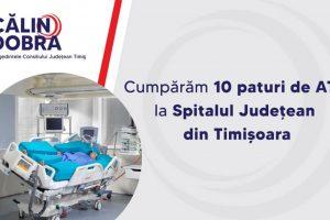 CJT cumpără 10 paturi de ATI pentru Spitalul Judeţean