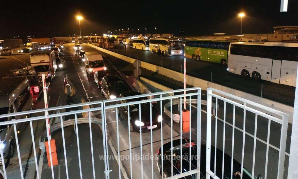 Numărul polițiștilor de frontieră a fost triplat la Nadlac II în această noapte