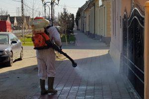 A început dezinfecţia la Lovrin