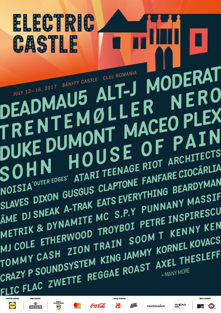 Noi artiști confirmați la Electric Castle