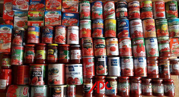 Studiu: 78% din bulionul și pasta de tomate ar trebui retrase de pe piață