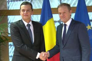 Premierul Sorin Grindeanu a prezentat președintelui Consiliului European prioritățile Guvernului României
