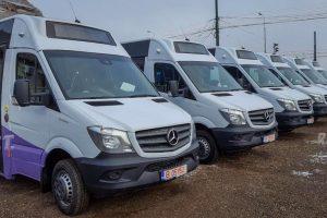 De luni, unul din minibuzele Mercedes intră în circulație. Celelalte nu au aviz de specialitate