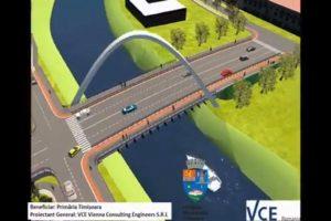 Podul Jiul, prima simulare de zi a proiectului
