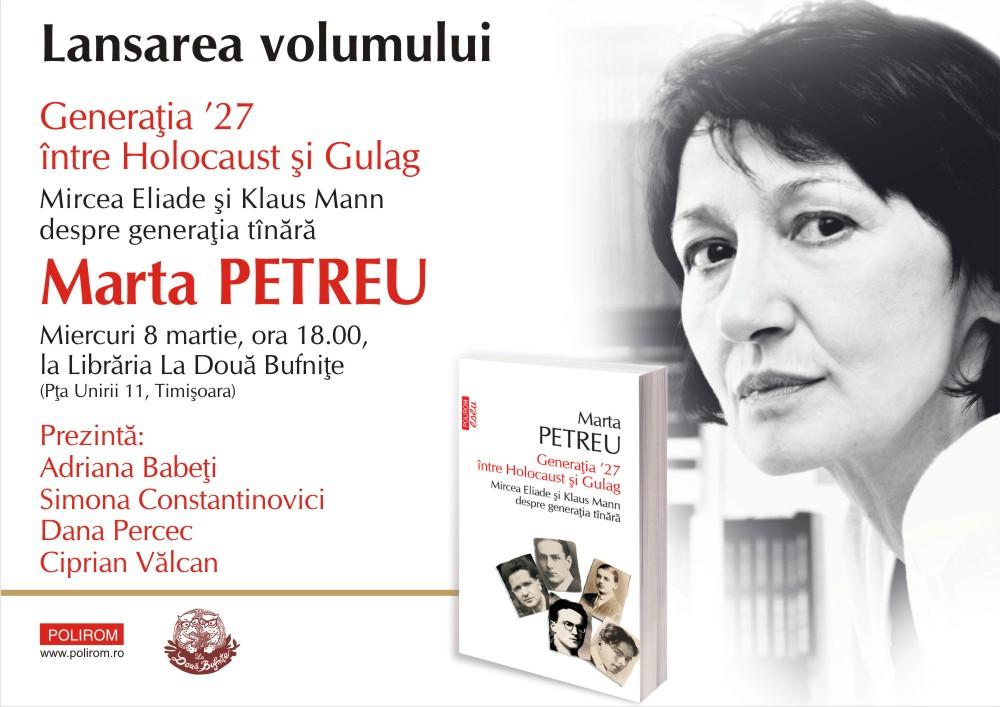 Întâlnire cu Marta Petreu la Timișoara