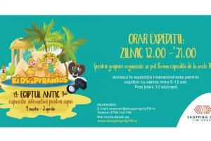Copiii descoperă fascinanta lume a Egiptului Antic la Shopping City Timișoara
