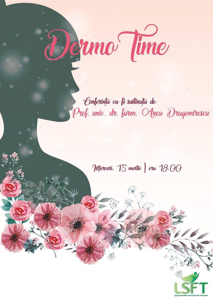 """Conferința """"DermoTime"""", organizată de Liga Studenţilor Farmacişti din Timişoara"""