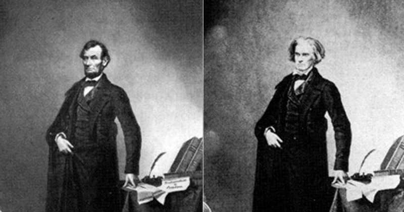Fotografia cu Abraham Lincoln, prima imagine modificată din istorie
