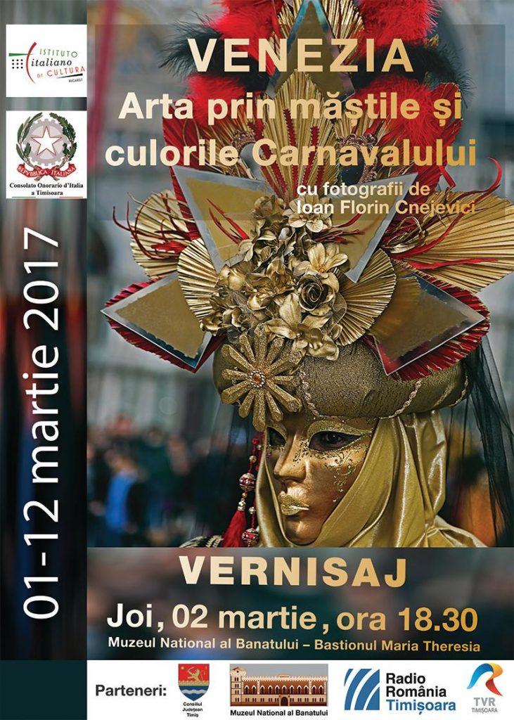 """Timișorenii, invitați să vadă expoziție fotografică """"Venezia. Arta prin măștile și culorile Carnavalului"""""""