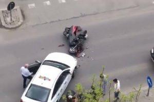 Motociclist rănit în urma unui accident rutier