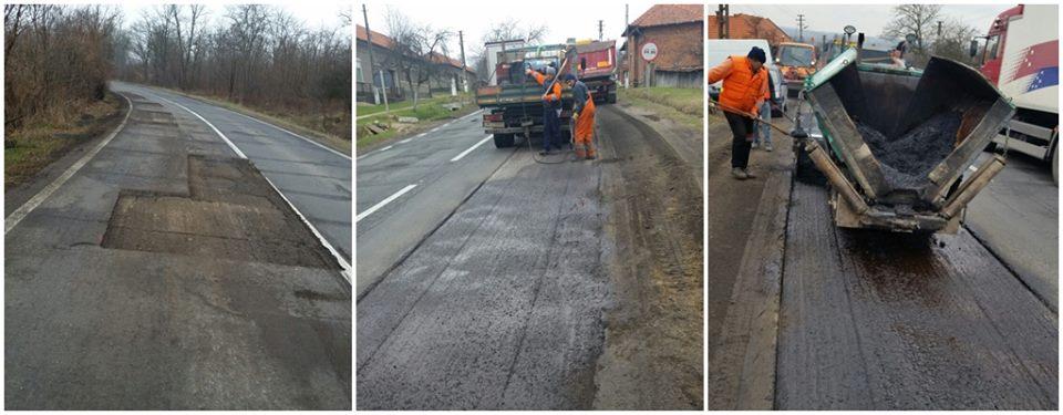 Se lucrează  pe autostrada A1 Timișoara – Arad