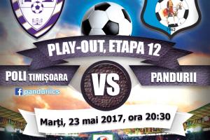 Măsuri de asigurare a ordinii publice la meciul de fotbal ACS Poli Timişoara – CS Pandurii Târgu Jiu