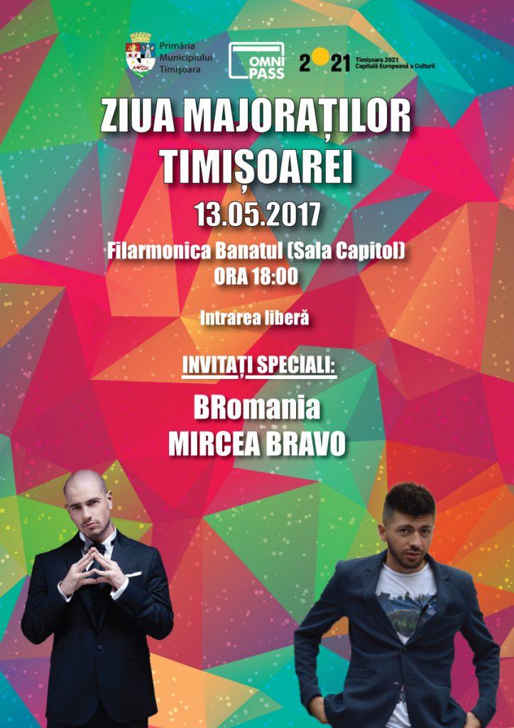 BRomania și Mircea Bravo, invitaţi la Ziua Majoraţilor Timişoarei