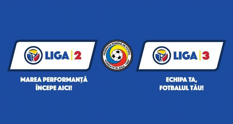 Federația Română de Fotbal a lansat noile branduri Liga 2 și Liga 3