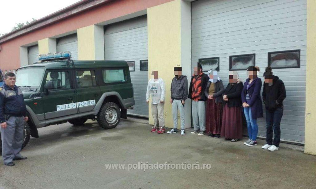 Irakieni depistaţi de poliţiştii de frontieră în timp ce intenţionau să intre ilegal în România