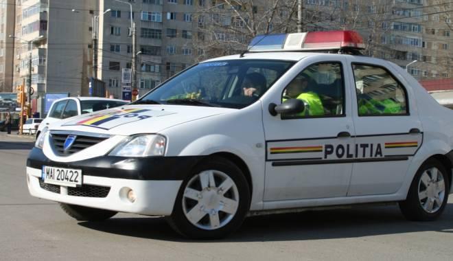 Mașină a poliției implicată într-un accident la Timișoara