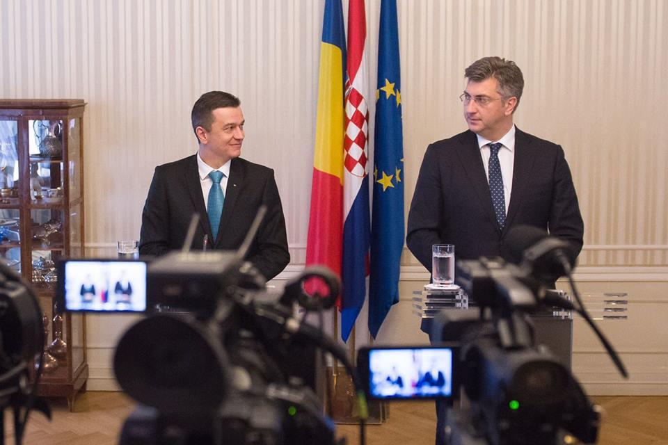 Șeful Executivului, discuții cu oficialii din Croația despre perspectivele de dinamizare a relațiilor economice și colaborare în plan european
