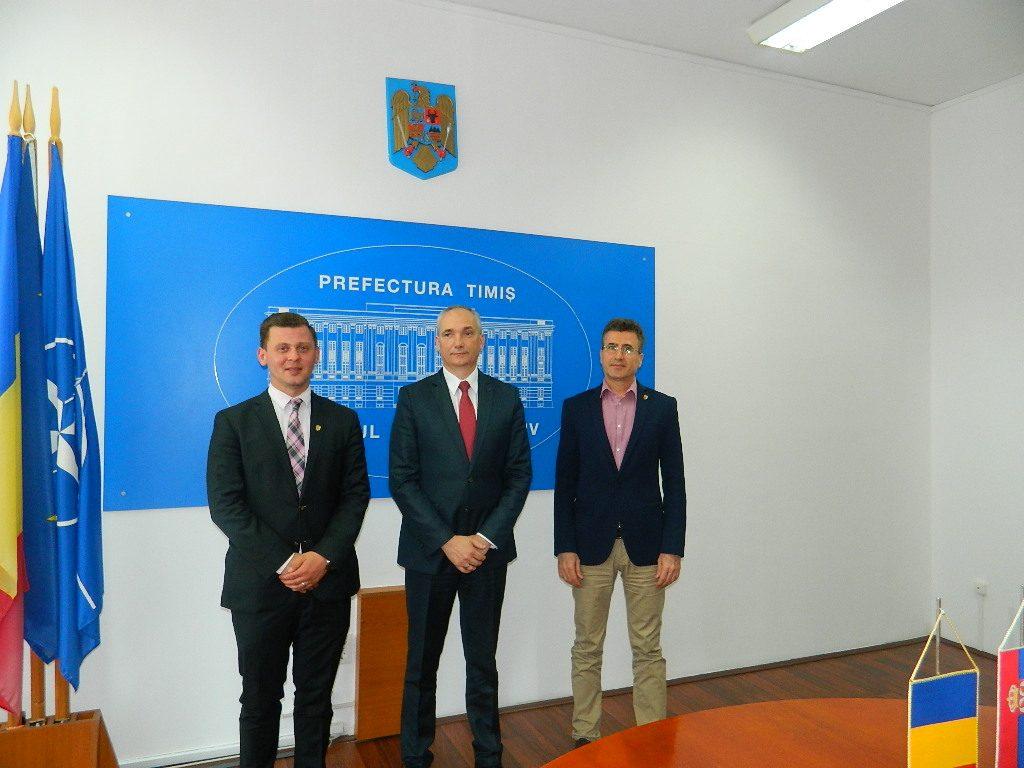 Noul consul general al Republicii Serbia la Timișoara, vizită oficială la Prefectura Timiș
