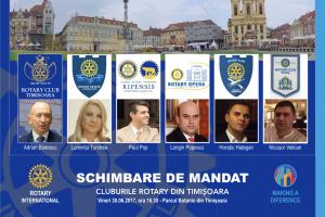 Schimbare de mandate la Cluburile Rotary din Timisoara. Cine sunt președinții