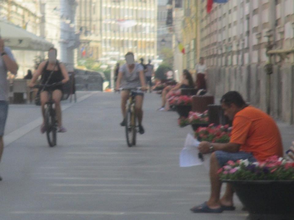 Poliţia Locală continuă să amendeze bicicliștii care pedalează prin zona centrală
