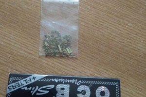 Doi tineri care aveau iarbă în buzunare s-au dat de gol în faţa poliţiştilor locali