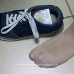 Cărți de identitate româneşti false, ascunse în pantoful unei tinere